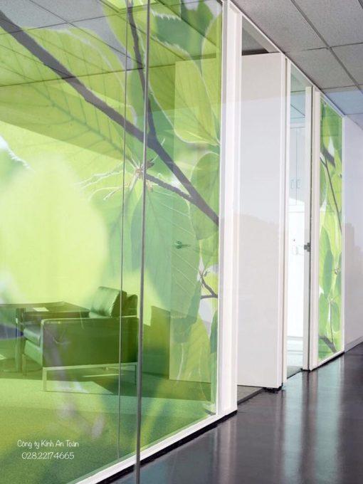 vách kính trang trí văn phòng